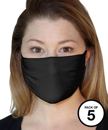 Fruit of the Loom SS990 3-ply Adult Face Mask (Pack of 5)